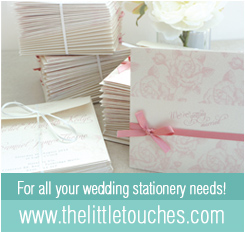 The Little Touches - bespoke wedding stationery